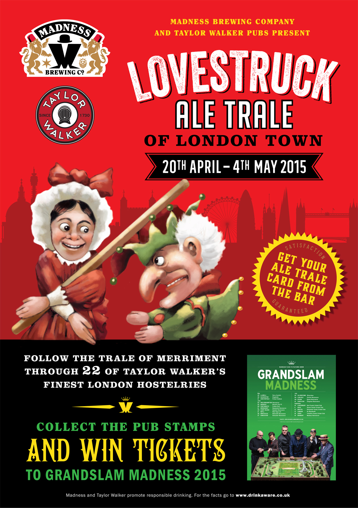 Lovestruck London Ale Trale 20th April 4th May Madness