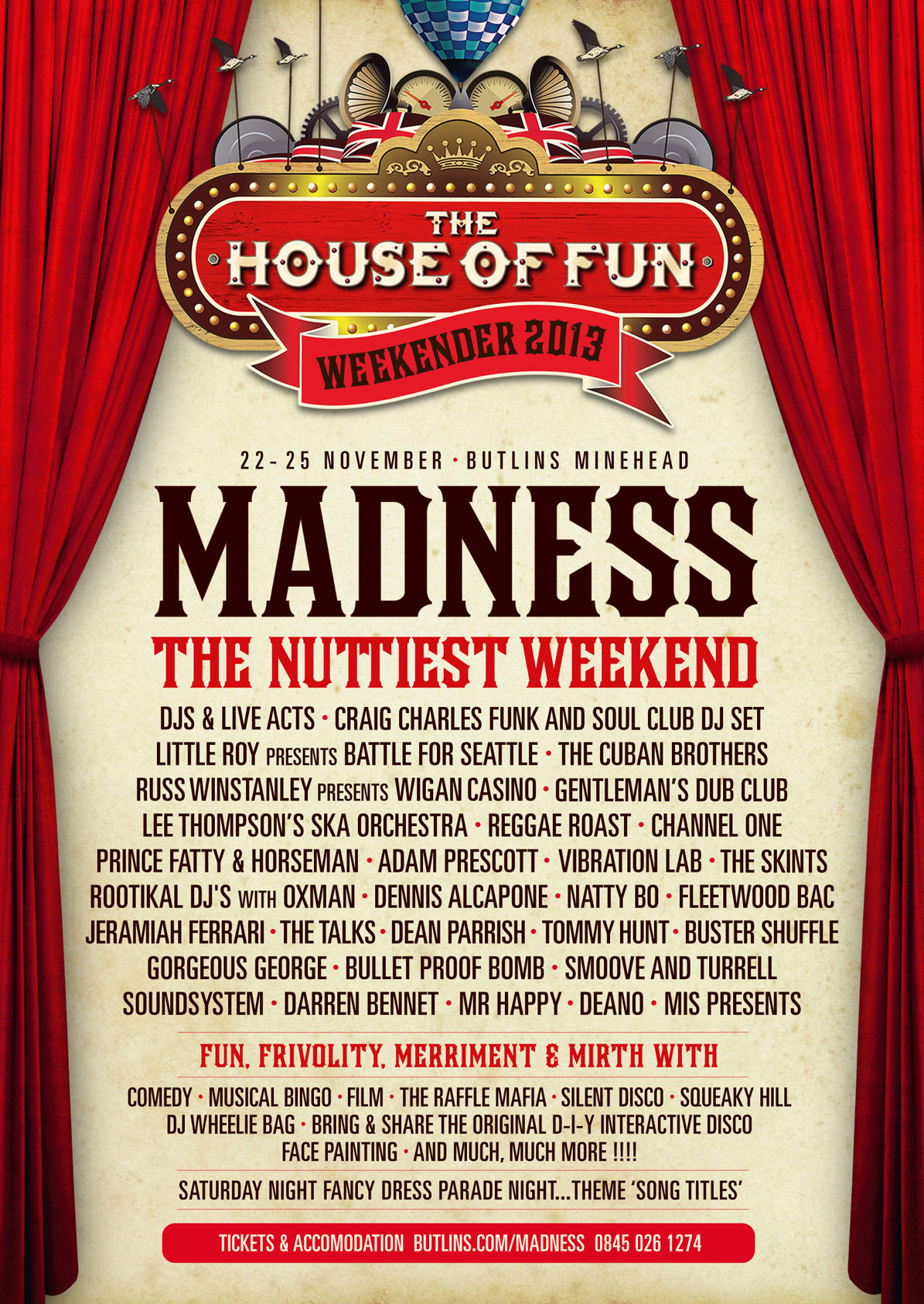 House Of Fun Weekender Line Up
